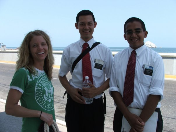 My friend was about to leave on her LDS Mission, so it was only natural to flag down current LDS Missionaries to say hello and offer some kind words.