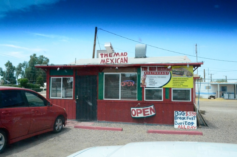 How else would we have found the most delicious Burrito stand in a California desert?