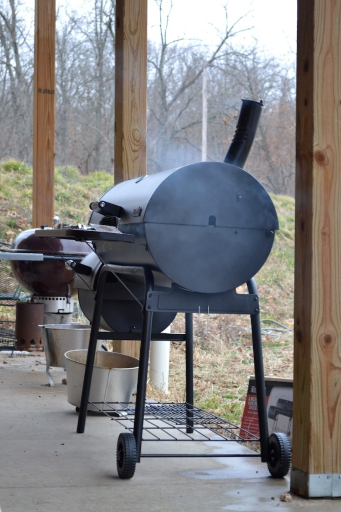 Sausage is gett'n smoked at the moment. Smoker from Walmart, the place to be for rural life. Seriously.