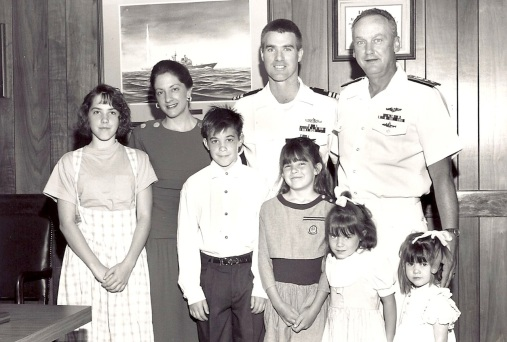 Dad has said that because of my mom and me, his Admiral always liked him.