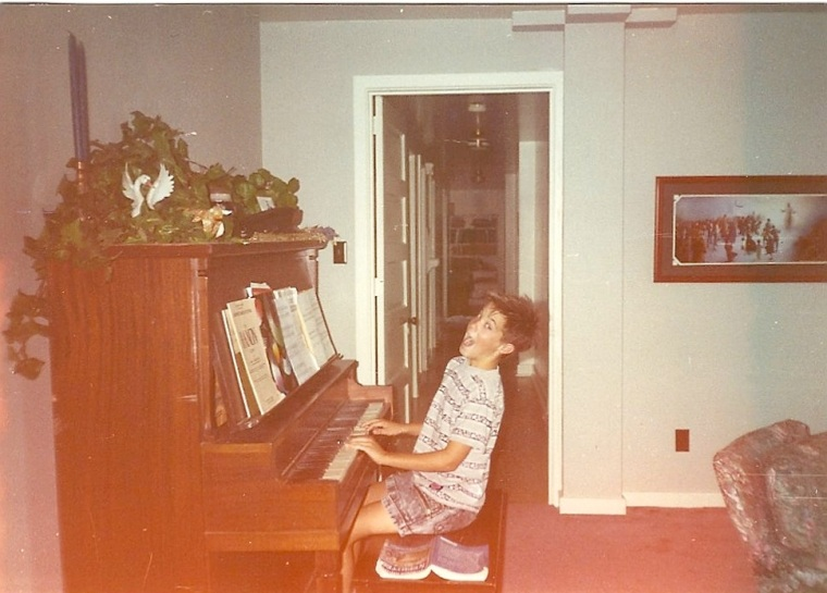 We all took turns practicing the piano and the family downstairs really appreciated that...er, sort of...not really.