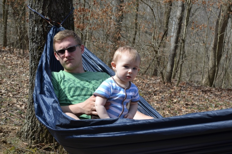 Baby and Daddy, just hang'n out.