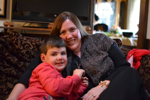 Cousin Laura and her son O.