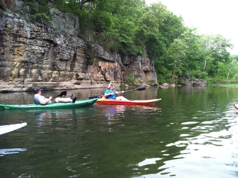 and the VonAllmen couple (who provided all the kayaks).