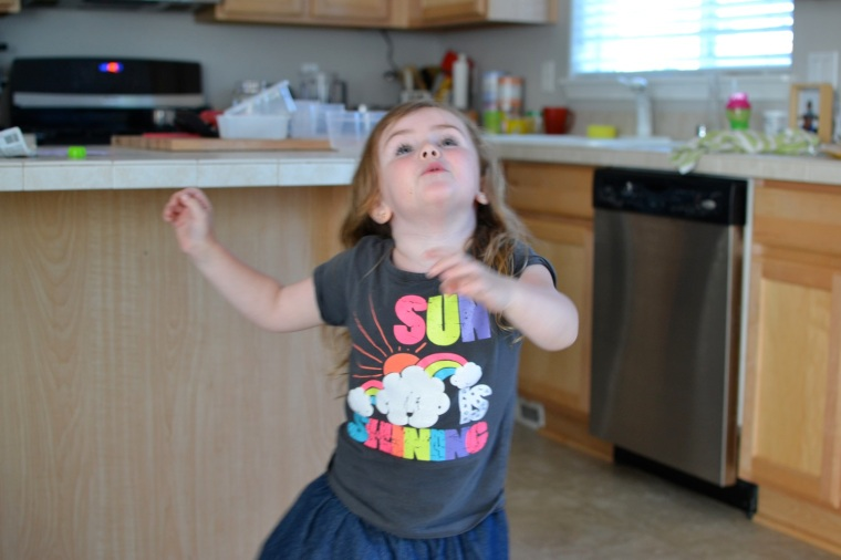 S, dancing around kitchen. My sister gave up a good career to have babies too. She is  a good mommy too.
