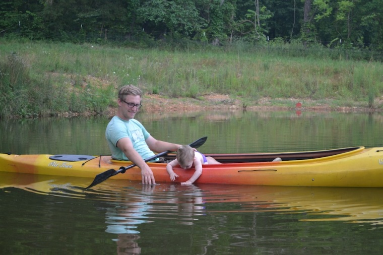 Danny borrowed a tandem kayak from some friends, to see how our son would take to it....