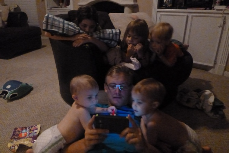 Ah, yes, gather round and watch uncle Danny play a game on his phone!!