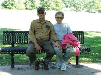 Maternal Grandparents enjoying a day at the park.