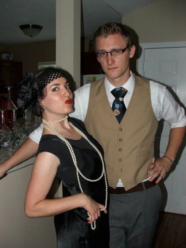 I had a 1920's birthday party to celebrate my last year of being in my 20's...taken three days after becoming engaged.