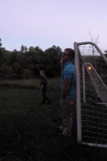 Dan guarding his goal