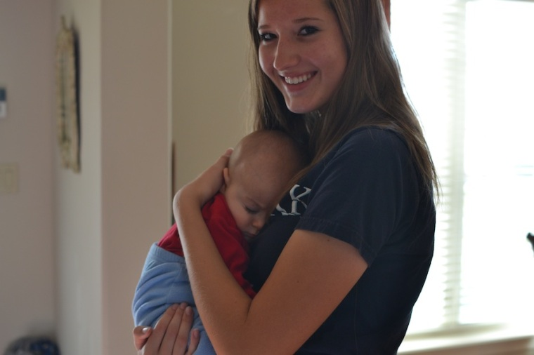 My cousin Anna and nephew Samwise
