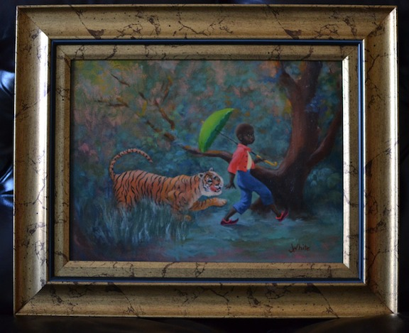 Comes from an old story out of India, about a clever little boy who outsmarts three tigers!
