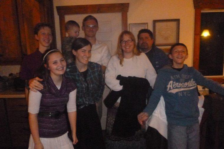Vonallmen's came for dinner - we love our friends.