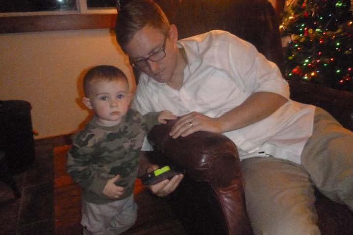 Hey Aunt Klara, thanks for forgetting Joe joe's army sweatshirt :) Wiley loves it