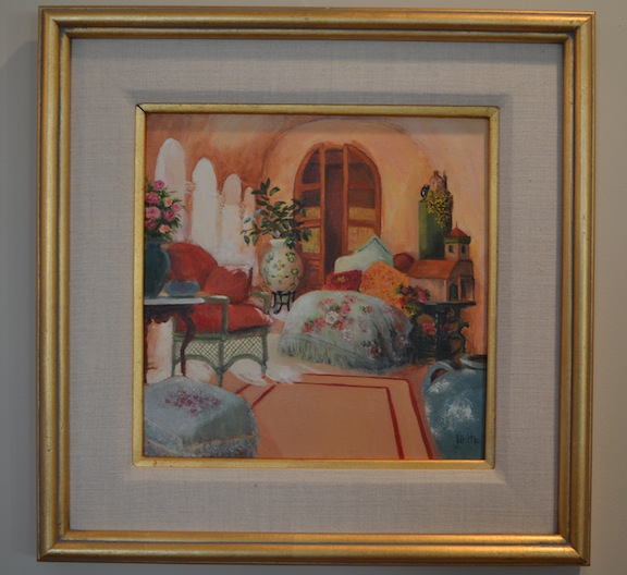 I remember my grandmother tore a picture out of a home and garden, then painted it. Here it is.