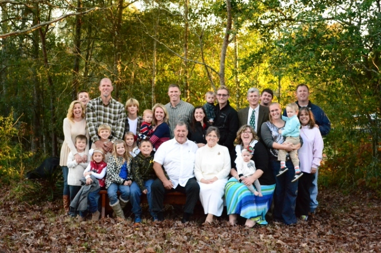 Here is my Mother-in-law's side of the family. Pawpaw and Gregre in the front surrounded by their posterity.