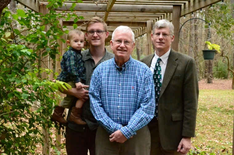 Four generations on Grambo's side. Grandpa, Grambo, Danny and Wiley.