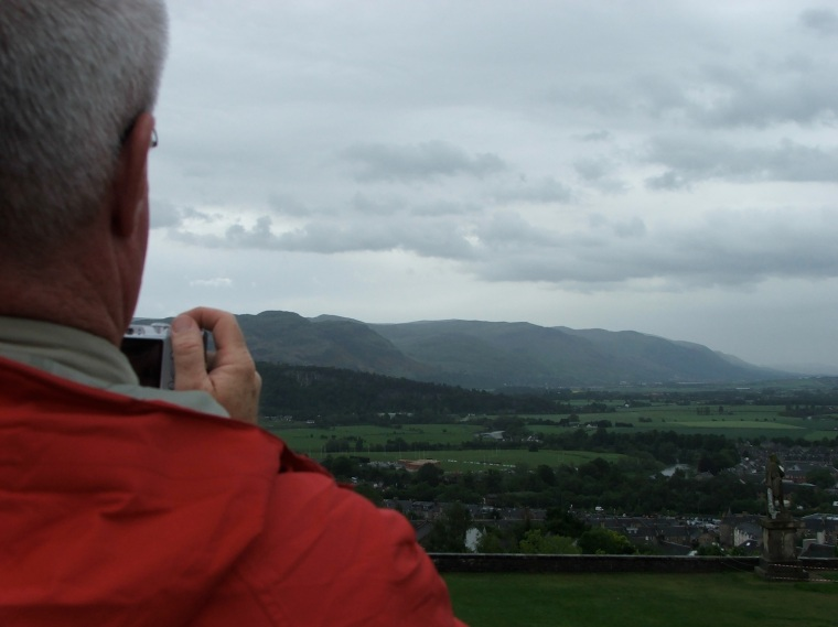 Moody skies over Stirling, Scotland.