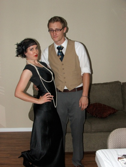 Just got engaged a few days prior to my birthday party (roaring 20's)...Danny was a bit more shy those days.