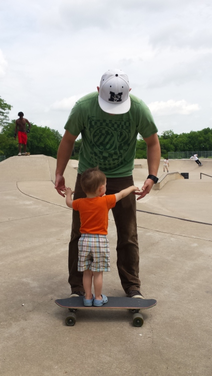 Okay Dad, I'm ready to drop in!