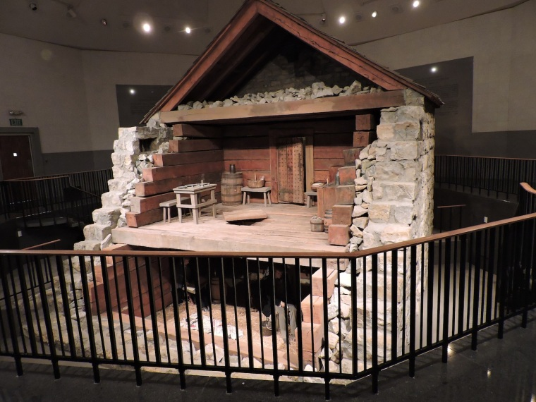 Replica of Liberty Jail - where Joseph Smith and other men were held 5 months (during the winter months).