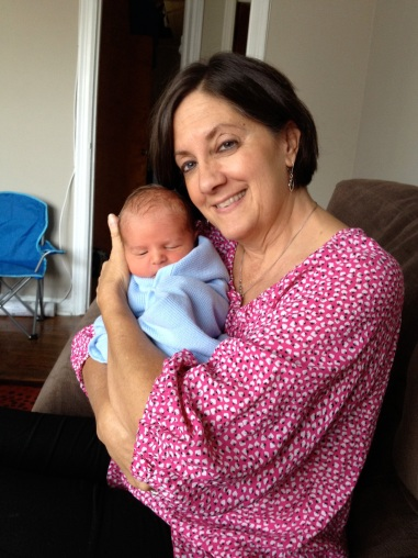 My mom and her tenth grand-baby.