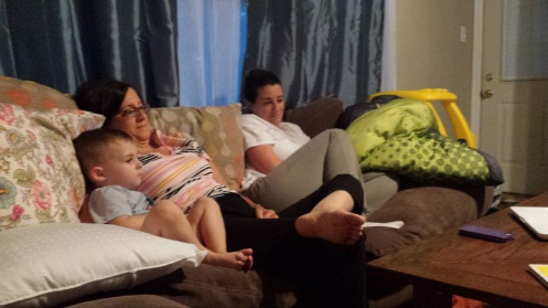 """Sitting around watching """"Call The Midwife,"""" hoping I would go into labor, watching other people in labor. Fake labor, but realistic fake labor."""