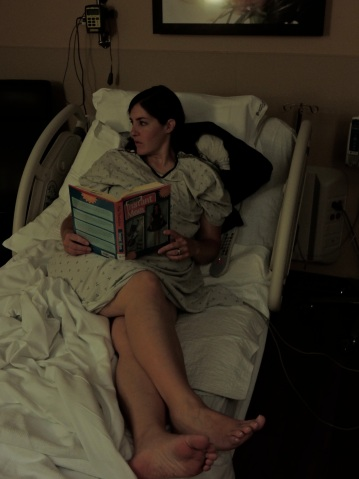 When being induced, bring a book or some movies...you'll be awhile.