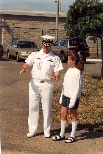 At take your child to work day on base (Dad was a US Naval Officer), the base reporter asked to take a photo of us for the paper...wear she recorded my knee high socks - WITH sandals - wow I was a stud-ette.