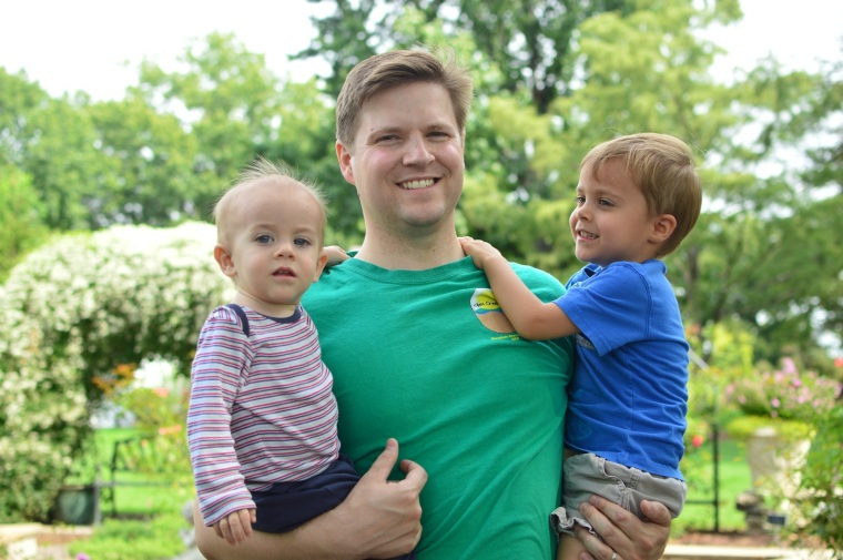 Brother in law with two of my nephews - awe.