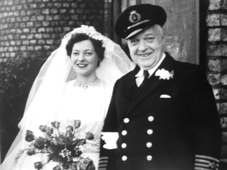 Great Grandad was a British citizen, but he is a Veteran as well! Pictured here with Nana on her wedding day.