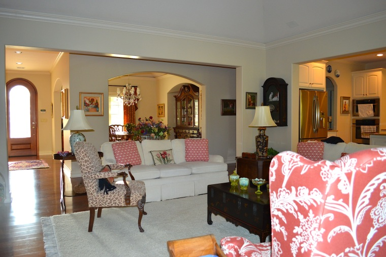 This is the home my grandparents built after I moved out in 2006. But, the furnishings are the same...