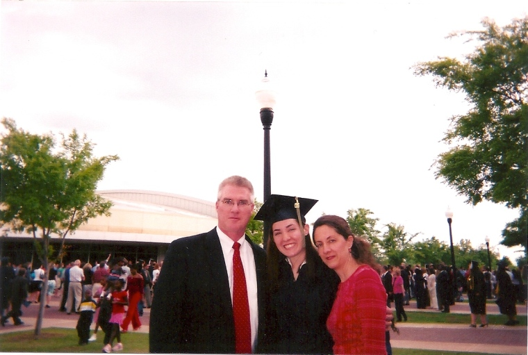 My little brother took this photo of me with my parents...he has since become great at photography. Maybe it was his height?