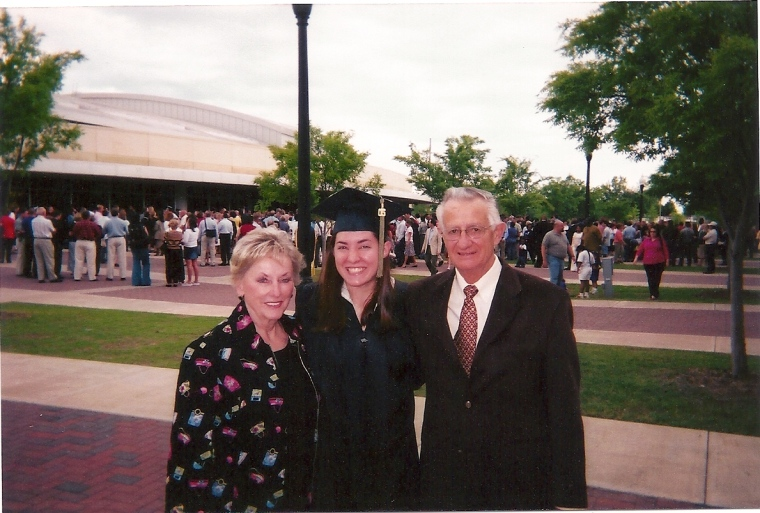 Grandparents and my college roommates.
