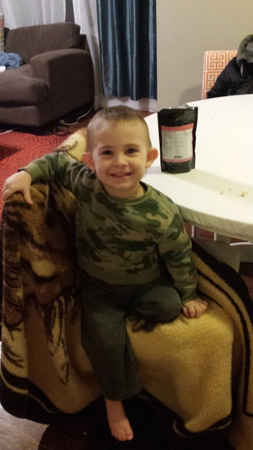 Eating clean includes our Thrive foods! This kid loves to eat freeze dried fruit and yogurt.