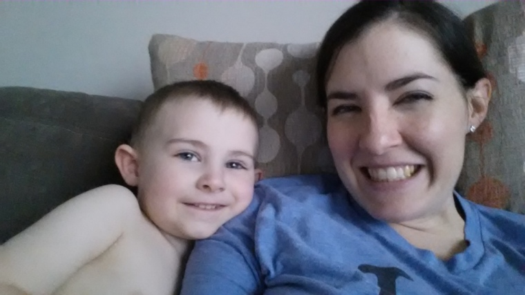 Me and My first born, who turns three in two months!!!