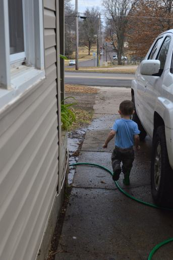 running back to get the hose!
