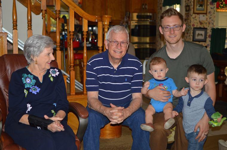 Danny and his paternal grandparents.