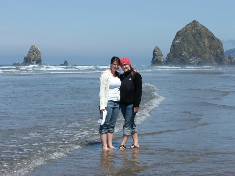 Oregon coast - Cannon beach with my youngest sister.