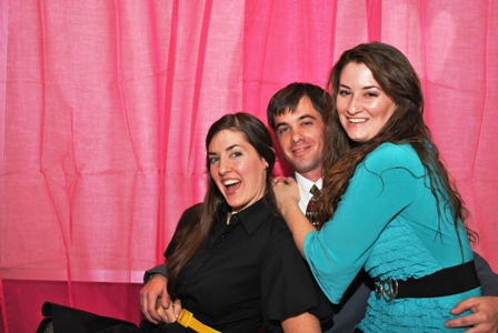 Party time - excellent! Pictured with my older brother and baby sister.