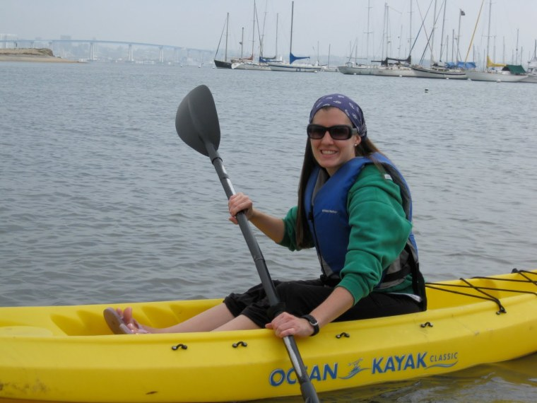 Kayaking in San Diego bay.
