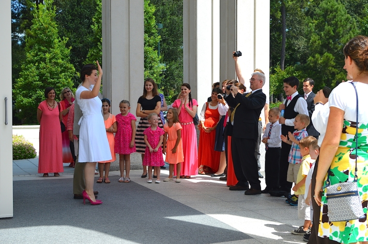 I still remember that feeling after being married and coming out of the Temple together...that's a good feeling.
