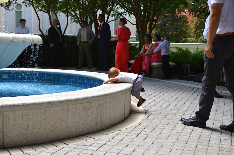 Trust me son, we all want to just in the fountain.