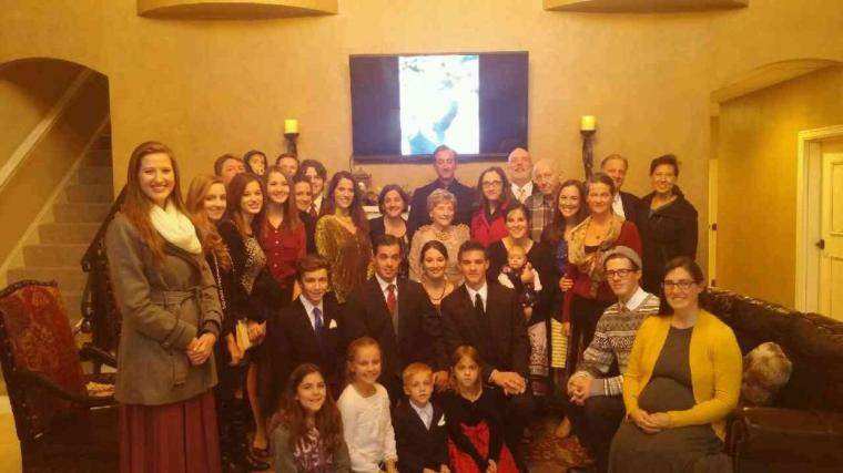 Family that gathered in Tulsa for Grampa and Gramma. So much love.